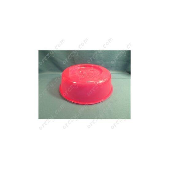 HIÁNYCIKK 27cm Fröccsenésgátló piros, mikrohullámú sütő
