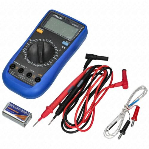 Digitális kézi mérőműszer hőmérsklet méréssel (multiméter) VDM-151 VALUE