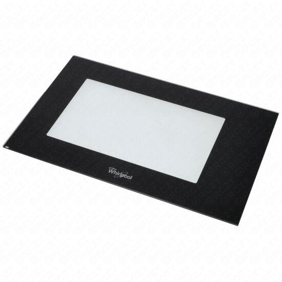 Üveg külső, ajtó (eredeti) WHIRLPOOL mikrohullámú sütő / RENDELÉSRE