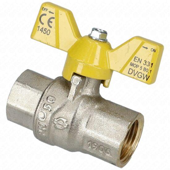 1/2-1/2 BB Gömbcsap fix zártházas gáz