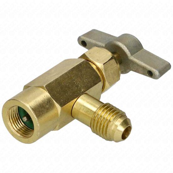 Csap hűtőgázhoz (R600/R290) 1/4 -7/16 coll