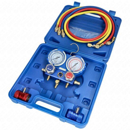 Csaptelep készlet, dupla kétcsapos VMG-2-R134a-B (R-134a hűtőközeghez) VALUE