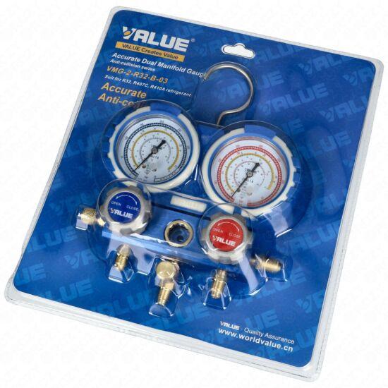 Csaptelep dupla, kétcsapos VMG-2-R32-B-03 (68mm) (R32; R134a; R407C; R410A hűtőközegekhez)  VALUE