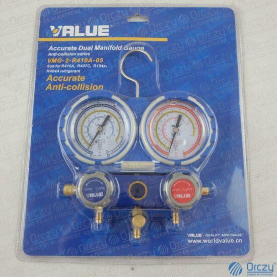 Csaptelep dupla VMG-2-R410A-03 VALUE  ( R-134A; R-404A; R-407C; R-4100A  hűtőközegekhez)