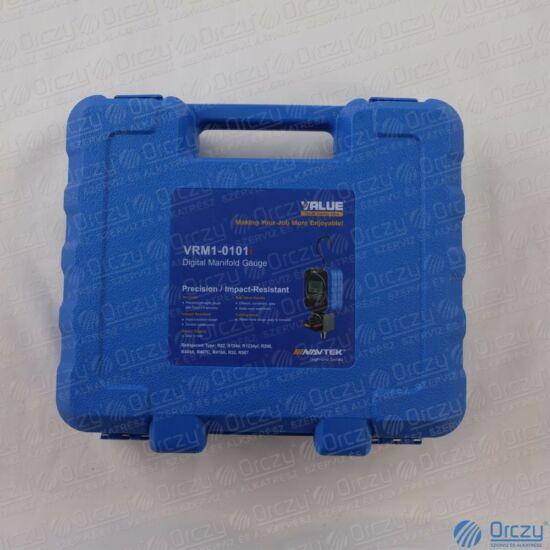 Csaptelep készlet, digitális, egycsapos VRM1-0101I (R22, R32, R290, R410A, 1234yf, R134a, R404A, R407C, R507A hűtőközegekhez) VALUE
