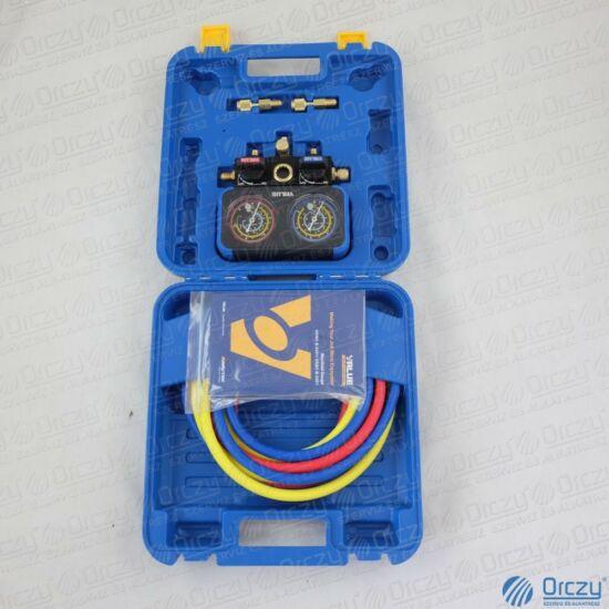 Csaptelep, analóg, dupla, kétcsapos, VRM2-B0401 (R22, R134a, R407C, R410A hűtőközegekhez) VALUE